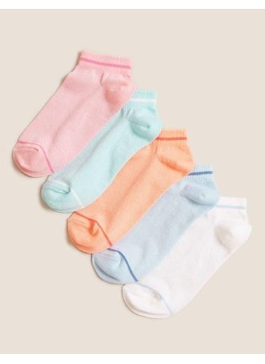 Marks & Spencer 5'li Gökkuşağı Renkli Çorap Renkli